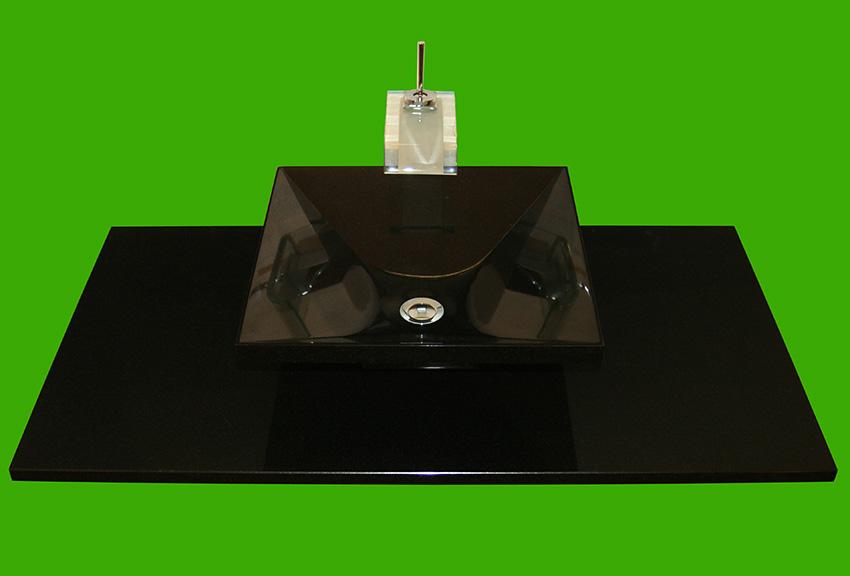 original schwarzer nero assoluto waschtisch. Black Bedroom Furniture Sets. Home Design Ideas